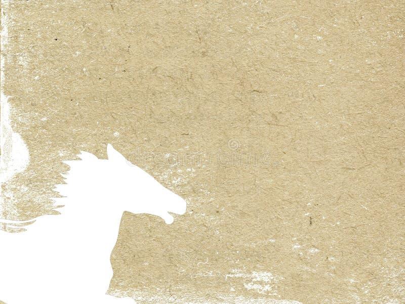 Pista de caballo ilustración del vector