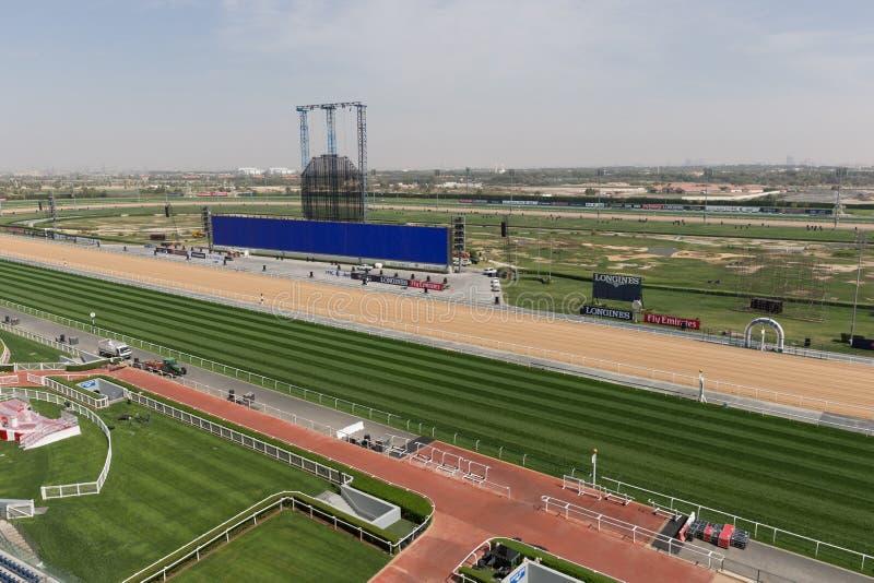 Pista de corridas de Meydan em Dubai, Emiratos Árabes Unidos foto de stock royalty free
