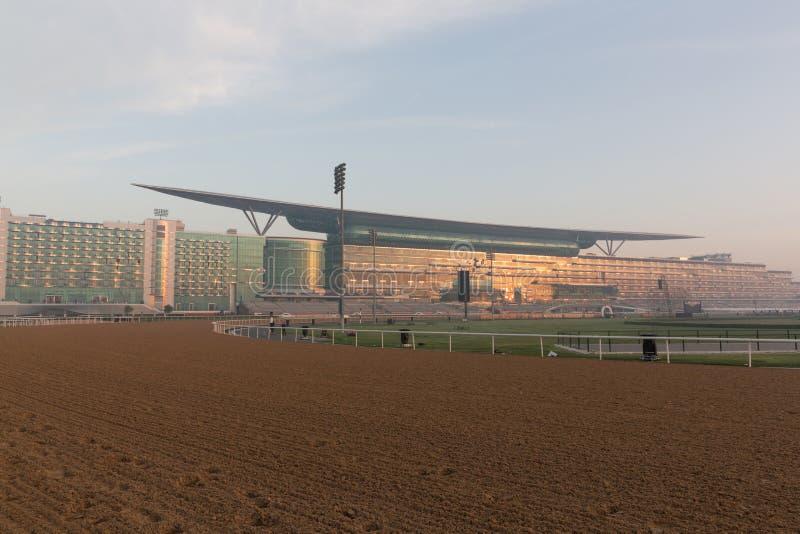 Pista de corridas de Meydan em Dubai, Emiratos Árabes Unidos imagem de stock