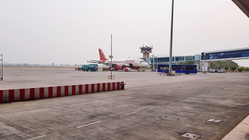 Pista de decolagem do aeroporto de Indore imagem de stock royalty free