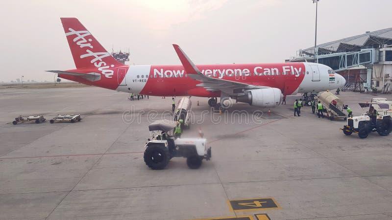 Pista de decolagem do aeroporto de Indore imagens de stock royalty free