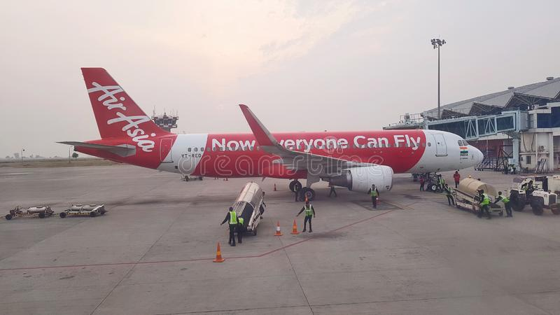 Pista de decolagem do aeroporto de Indore imagem de stock