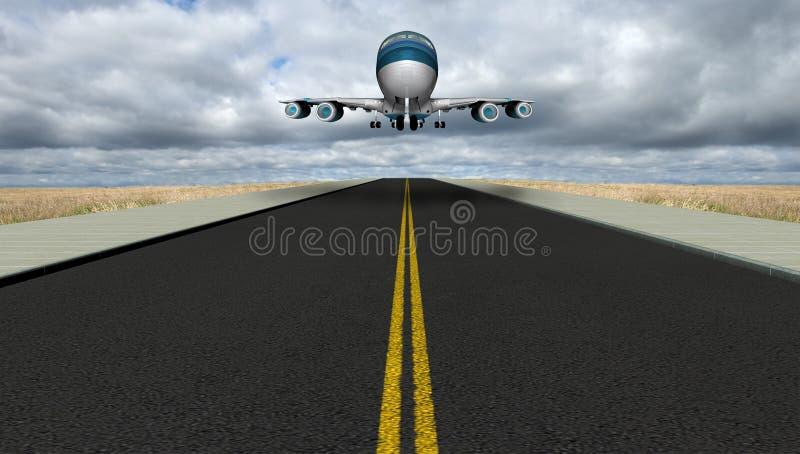Pista de decolagem Jet Travel Vacation do aeroporto ilustração royalty free