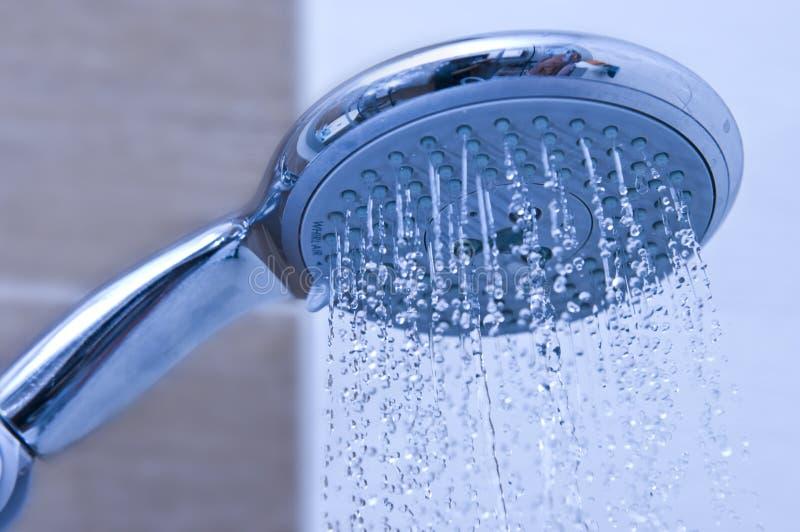 Pista de ducha azul fotos de archivo
