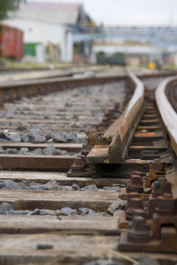 Pista de ferrocarril imagen de archivo libre de regalías
