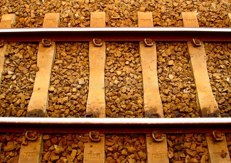Pista de ferrocarril fotografía de archivo libre de regalías