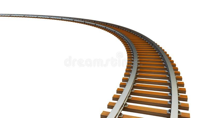 Pista de ferrocarril curvada libre illustration