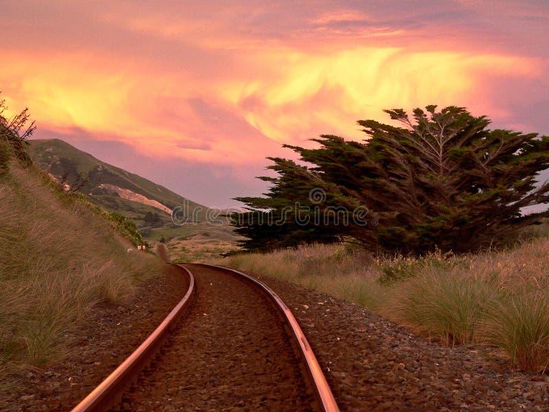 Pista de ferrocarril de Nueva Zelandia fotos de archivo libres de regalías