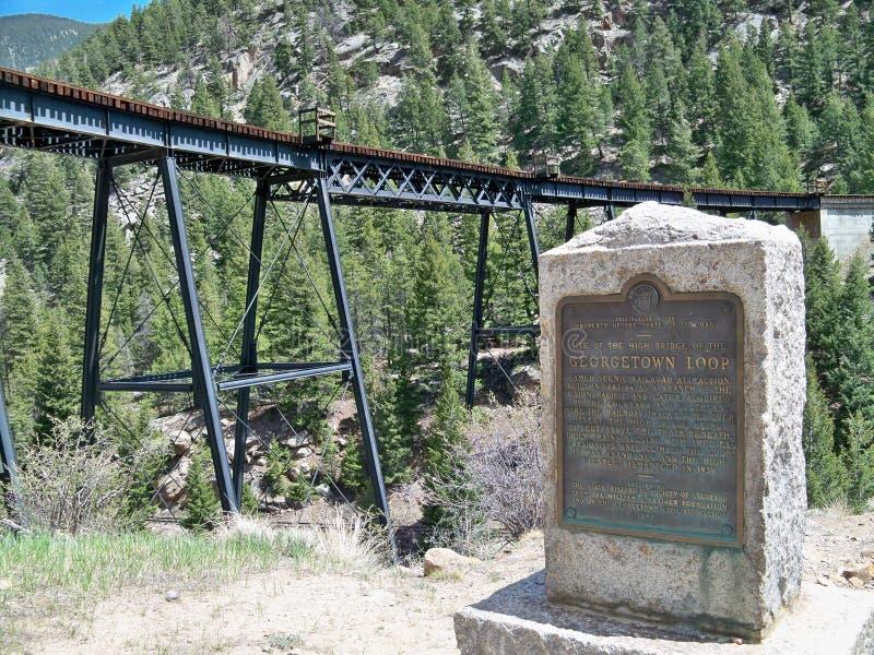 Download Pista De Ferrocarril Del Lazo De Georgetown Colorado Fotografía editorial - Imagen de placa, colorado: 100529197