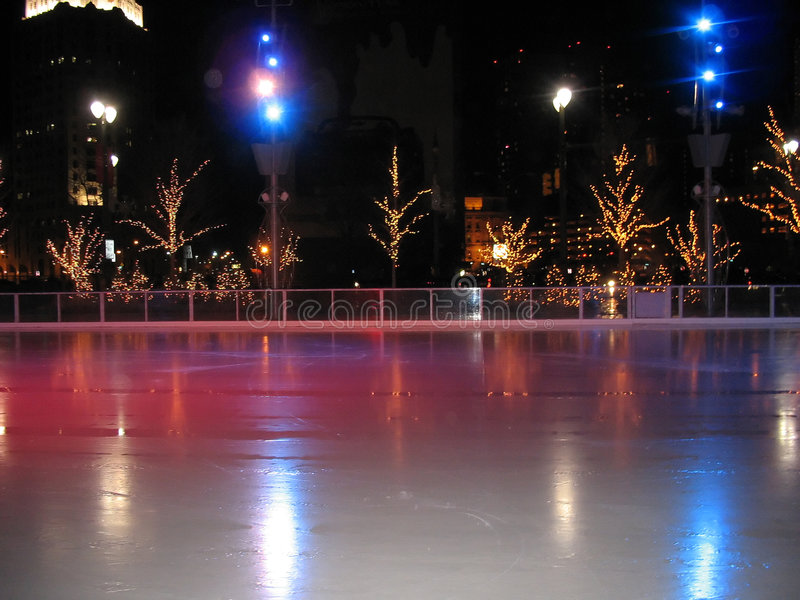 Pista de gelo de Detroit imagem de stock royalty free