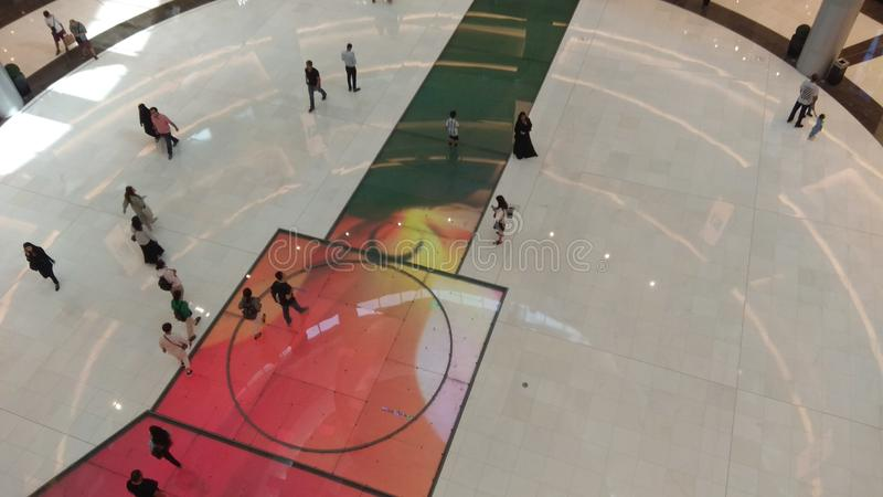 Pista de gelo na alameda de Dubai fotografia de stock royalty free