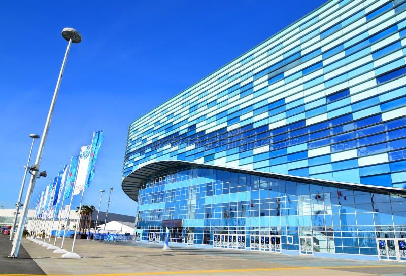 Pista de hielo para iceberg del patinaje artístico en el parque olímpico, Sochi fotografía de archivo libre de regalías