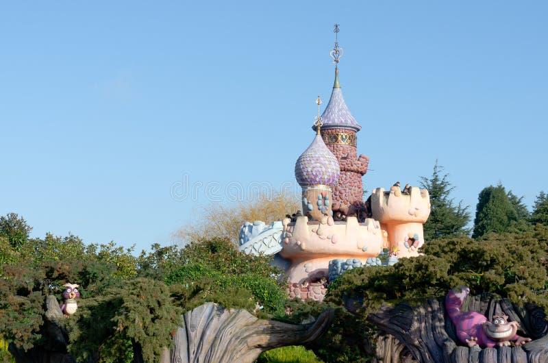 Pista de la fantasía en Disneylandya París, Francia fotografía de archivo