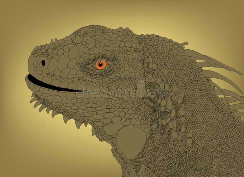 Pista de la iguana ilustración del vector