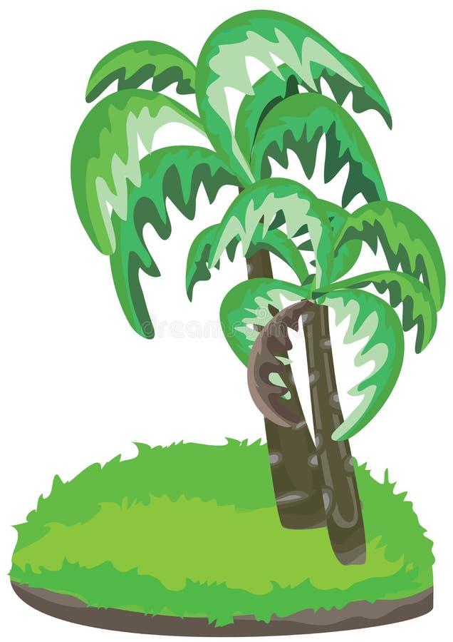 Pista de la palma aislada ilustración del vector