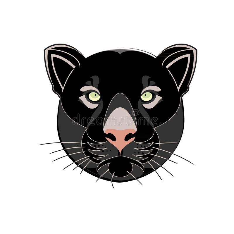 Pista de la pantera negra ilustración del vector