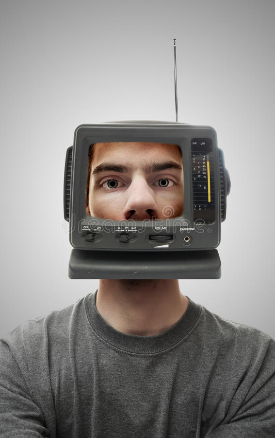Pista de la TV fotos de archivo