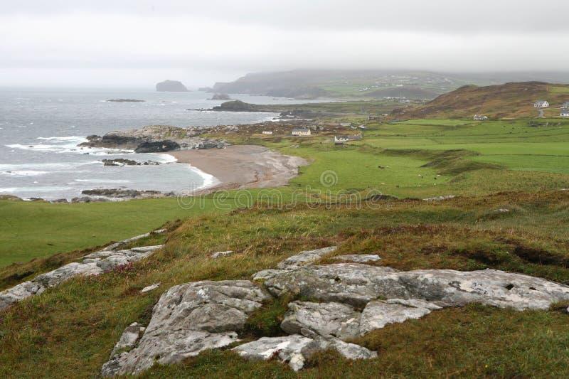 Pista de Malin, costa de Irlanda fotografía de archivo