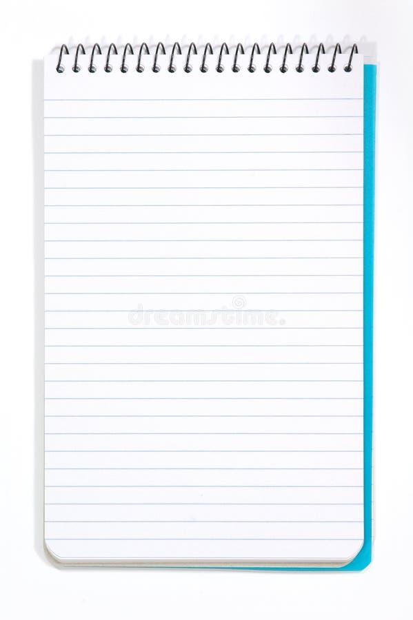 Pista de nota con white pages foto de archivo