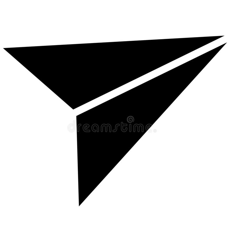 Pista de papel ícone isolado do vetor que pode facilmente ser alterado ou editado ilustração stock