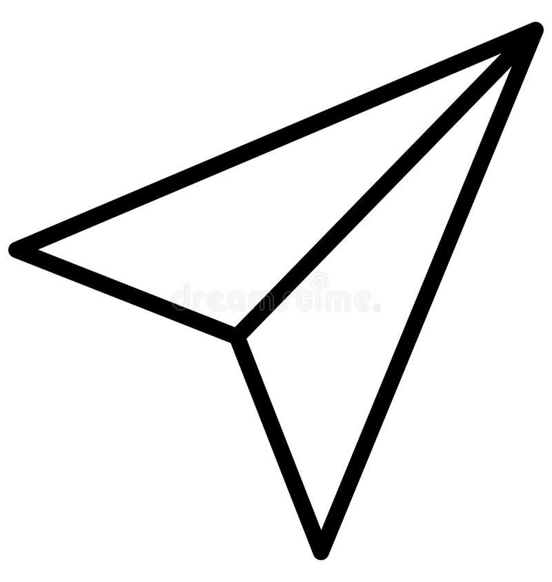 Pista de papel ícone isolado do vetor que pode facilmente ser alterado ou editado ilustração royalty free