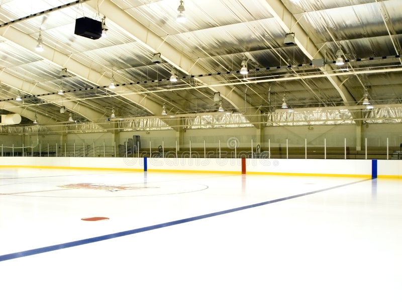 Pista de patinagem do gelo fotografia de stock royalty free