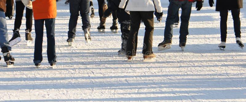 Pista de patinaje de hielo. foto de archivo