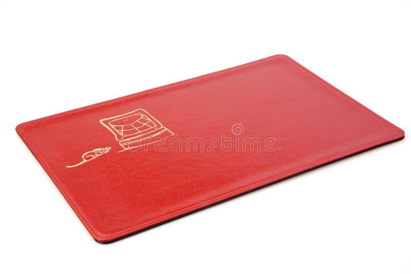 Pista de ratón roja foto de archivo