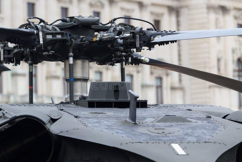 Pista de rotor del helicóptero foto de archivo