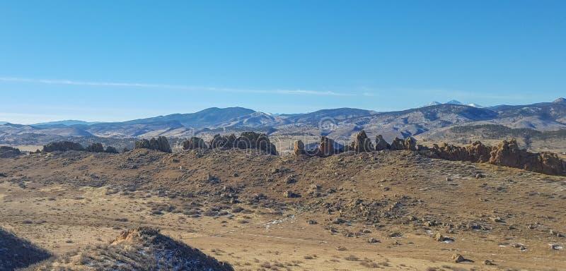Pista de senderismo de la espina dorsal del diablo en Loveland, Colorado fotos de archivo libres de regalías