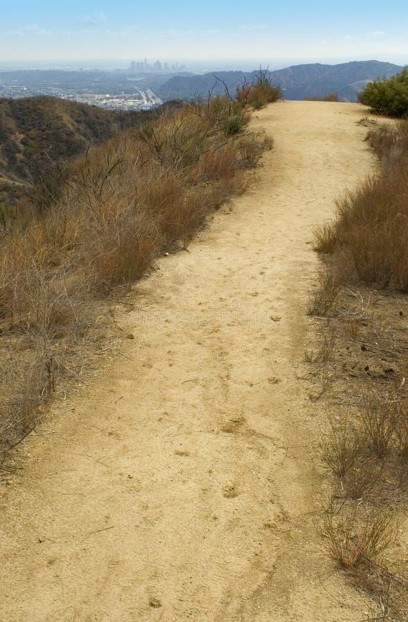 Pista de senderismo Los Ángeles 02 imagenes de archivo