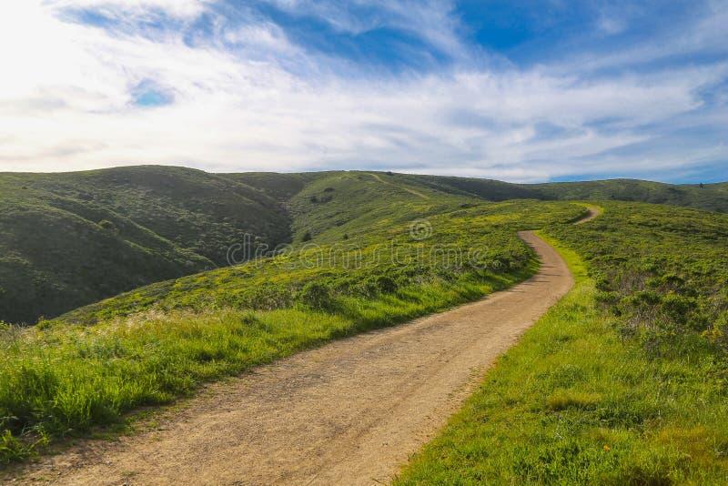 Pista de senderismo de Tamalpais del soporte, Marin County imagen de archivo