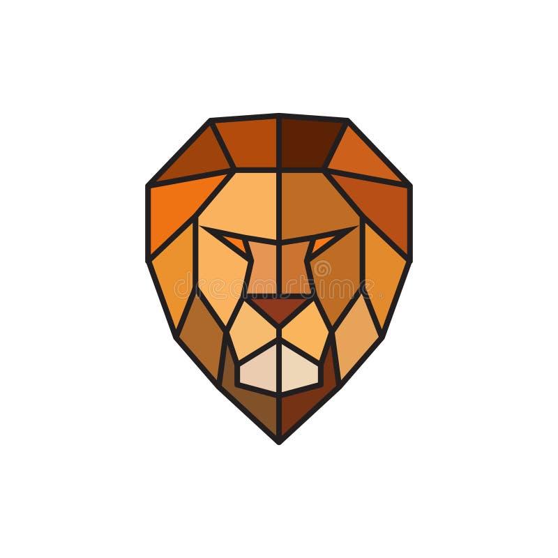 Pista de un león Plantilla del logotipo para el negocio ilustración del vector
