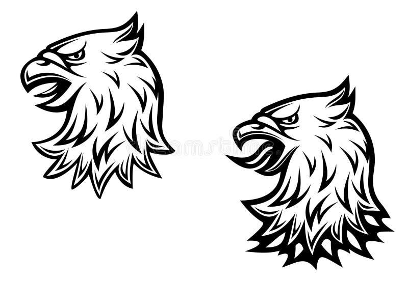 Pista del águila heráldica libre illustration