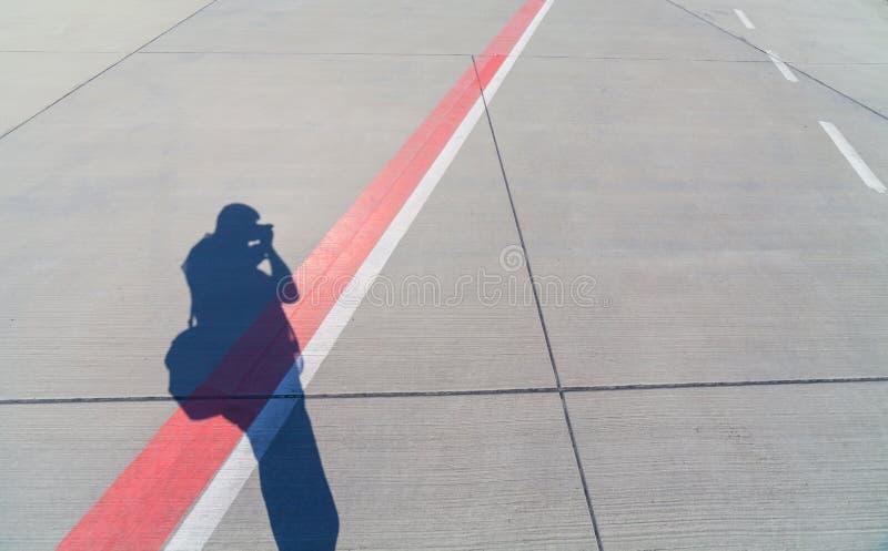 Pista del aeropuerto fotografía de archivo