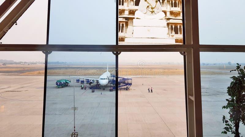 Pista del aeropuerto de Indore imagen de archivo