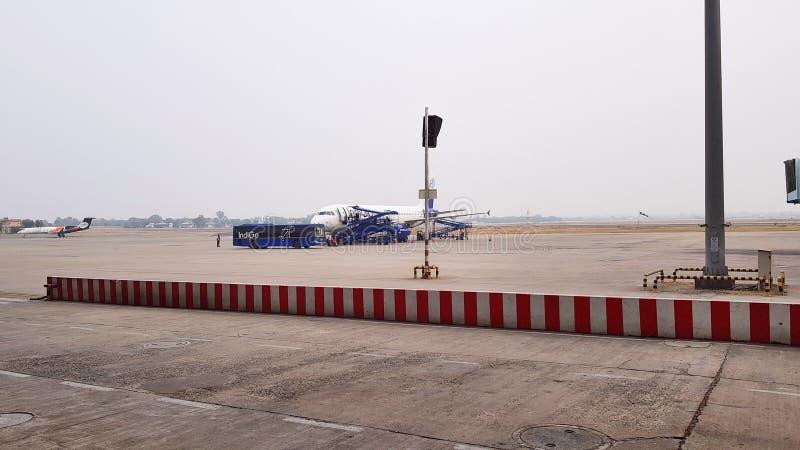 Pista del aeropuerto de Indore fotos de archivo libres de regalías