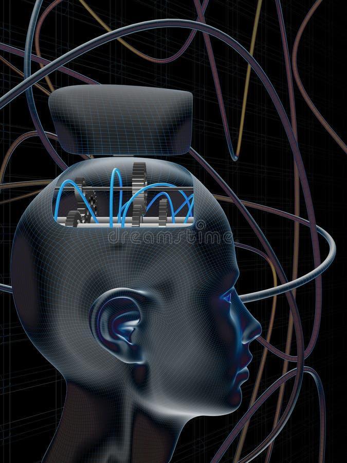 Pista del cerebro de la rueda dentada ilustración del vector