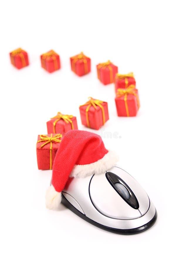 Pista del comercio electrónico de la Navidad foto de archivo libre de regalías