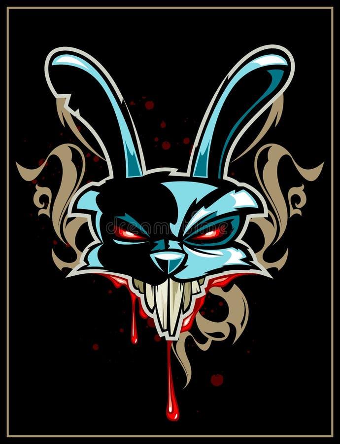 Pista del conejo con el modelo ilustración del vector