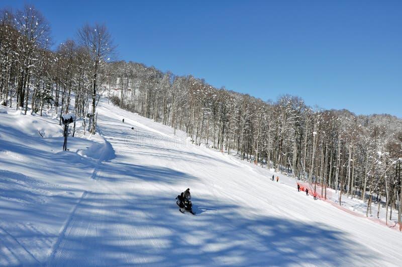 Pista del esquí fotos de archivo