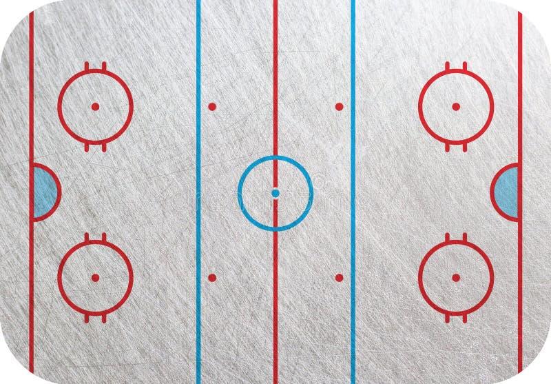 Pista del hockey ilustración del vector