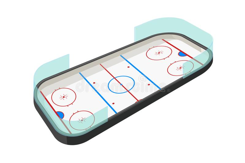 Pista del hockey en blanco libre illustration