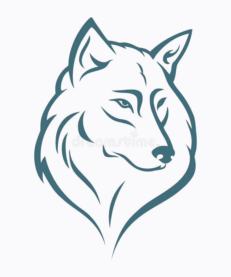 Pista del lobo ilustración del vector