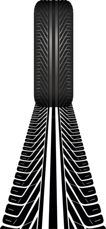 Pista del neumático stock de ilustración