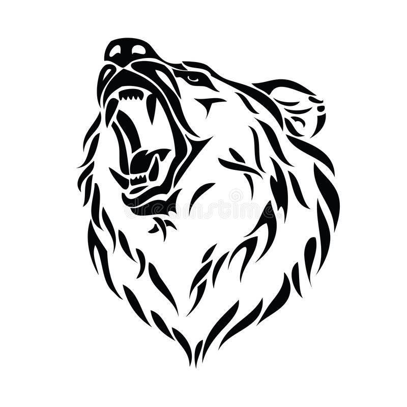 Pista del oso del grisáceo libre illustration