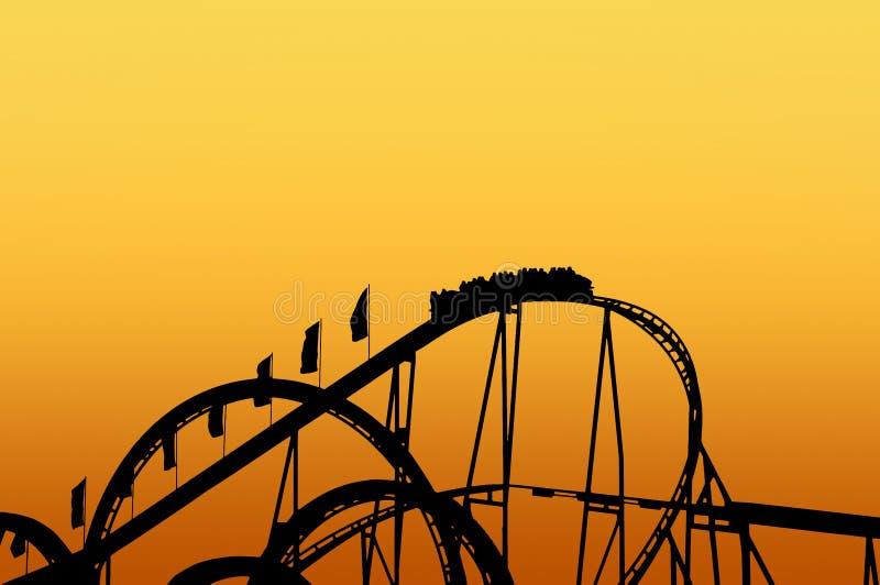 Pista del roller coaster en funfair imágenes de archivo libres de regalías