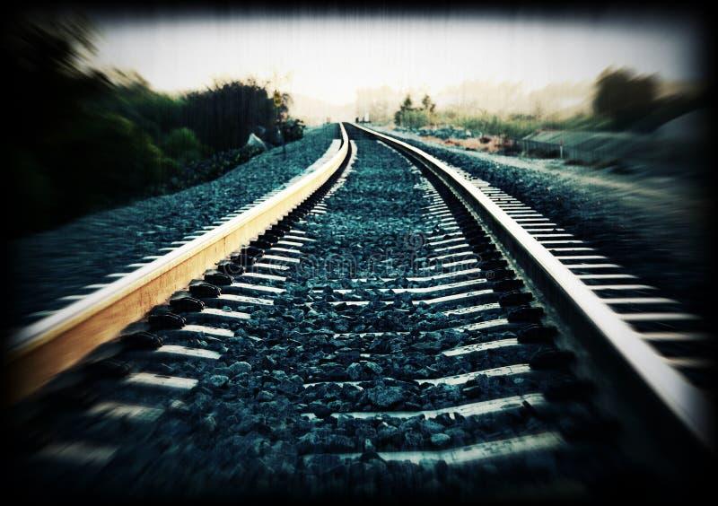 pista del treno immagine stock