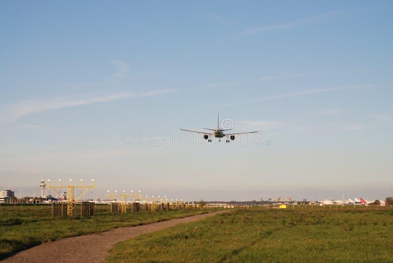 Pista dell'aeroporto di Schiphol fotografie stock libere da diritti