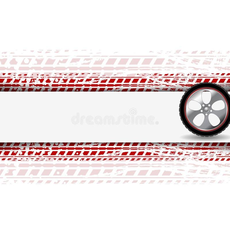 Pista della gomma di lerciume e della ruota Vettore astratto illustrazione di stock